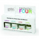 Nail Harmony Gelish Gel Polish Fantastic Four Top Base Ph Bond Nourish Oil 0.5oz