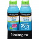 Neutrogena Wet Skin Kids Sunscreen Spray, Twin Pack, 2 Count