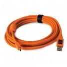 """TETHER PRO USB 2.0 AM TO MINI-B 15"""" ORG CU5451"""