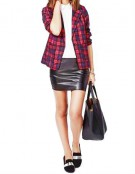Checkered Red Jacket - Medium