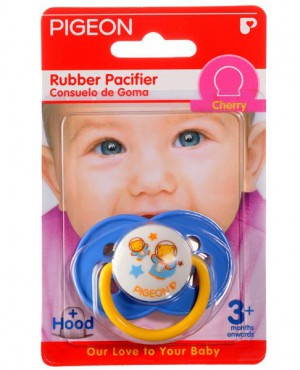 Pigeon Rubber Pacifier Orthodontic RG-1 Cherry/Blue
