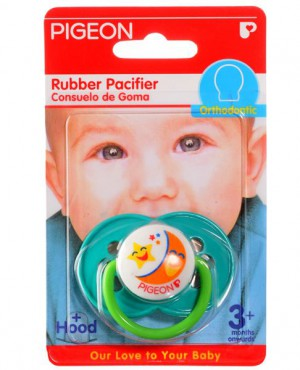 Pigeon Rubber Pacifier Orthodontic TG-2 Cherry/Green