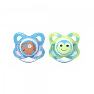 Tommee Tippee Essentials 2 x Funky Face Soother 6-8m #TT43322610