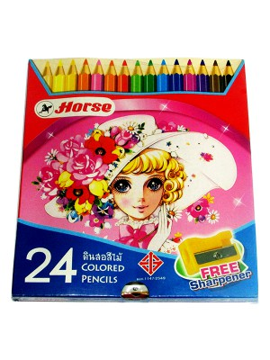 Horse Color Pencils (Set of 24) With Sharpener 36 H-2080-24