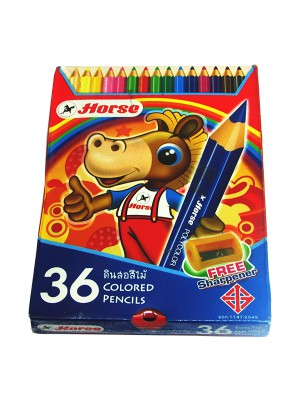 Horse Color Pencils (Set of 36) With Sharpener 035 H-2080-36