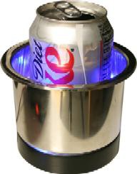 SS LIGHTED CUP HOLDER