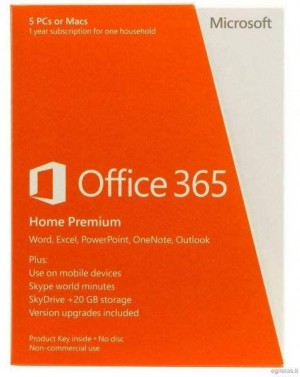 Office 365 Home Premium 32/64 English Subscription 1 Year Middle East DM Medialess