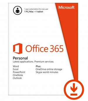 Office365 Personal 32/64 English Subscr 1YR-1 USER Middle East DM Medialess