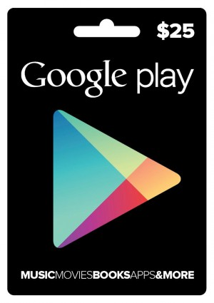 Google Play Gift Cards $25