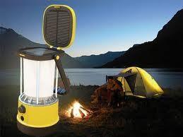 Folded Solar Camping Lantern