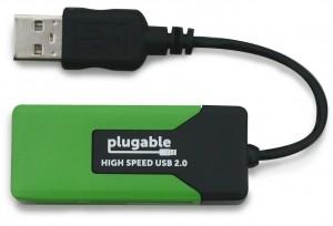 plugable USB 2.0 قارئ بطاقات ذاكرة متعددة