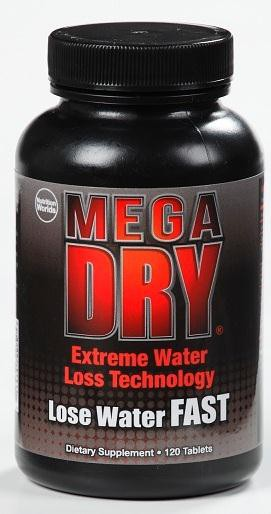 Nutrition World's Mega Dry Water Loss Supplement - 120 Tablets