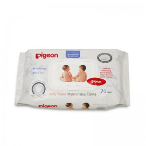 Pigeon Baby Wipes Moisturizing Cloths 60 wipes Alcohol-Free