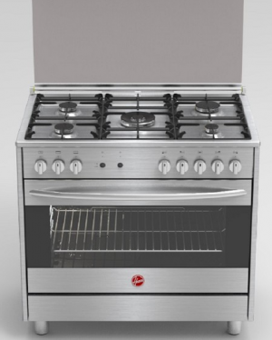 Hoover FGC9060FX-N 90 x 60 cm 5 Burner Gass Cooker - Stainless Steel