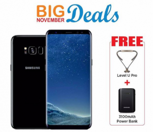 "Samsung Galaxy S8 Plus 6.2"" 4GB, 64GB, 4G, 12MP/8MP - Black Bundle Offer"