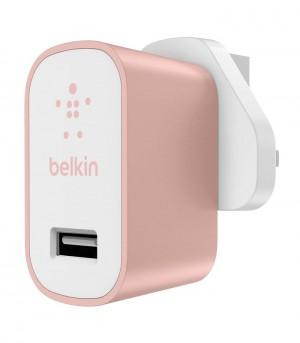 Belkin Premium Ultra-fast 2.4amp Ac Charger Uk - Rose Gold