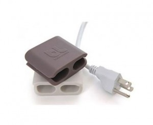 Bluelounge Cableclip - Large (1 Pack Light Grey and 1 Pack Dark Grey)