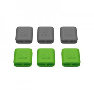 Bluelounge Cableclip - Small (3 Packs Green and 3 Packs Dark Grey)
