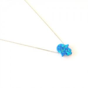 Mighzal Opal Hamsa Necklace