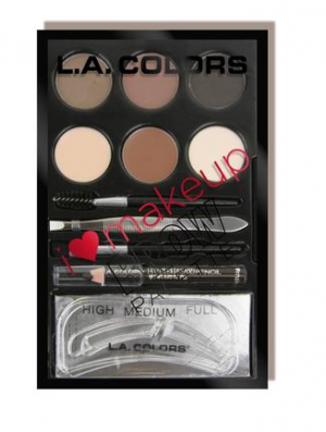 L.A.Colors - Brow Pallete - Medium To Dark