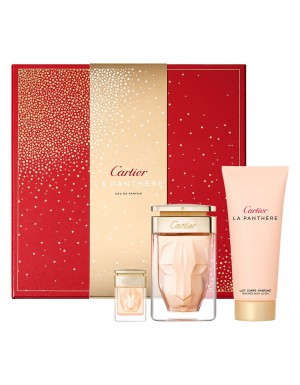 Cartier La Panthere Edp Set 75ml + 100BL + Mini [Red Box]