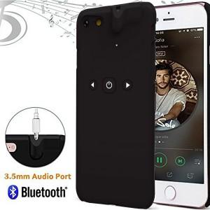 Veniveta iPhone 7 Case with Built-in 3.5mm Headphone Jack Adapter-Black