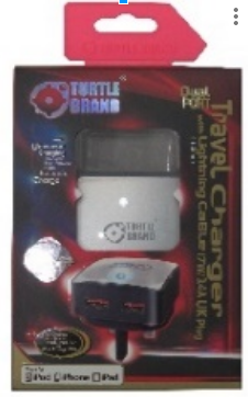 Turtle Brand Home Charger UK (3-Pin) Plug Dual Port 17W/3.4A  - TB0035