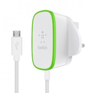 Belkin Boost Up Home Charger UK Integrated with Micro USB Cable