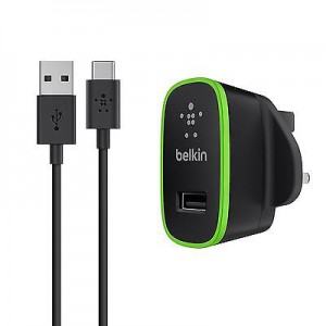 Belkin Home Charger UK with USB-C Cable