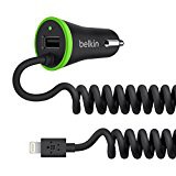 Belkin Boost Up Car Charger with Integrated Lightning Cable