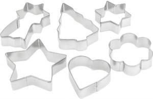 Penguen Set of 6 Cookie Cutter, Silver
