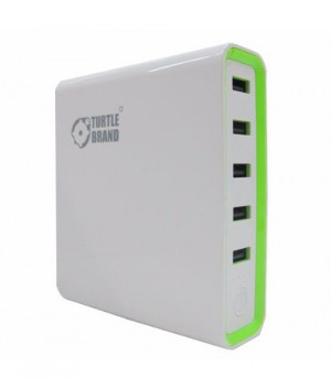 Turtle Super Power Bank 20000mAh with 5 USB Slots (MicroUSB cable included) TB0050 - White