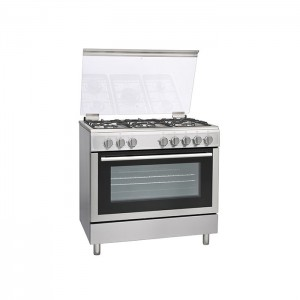 Hoover 90cm, 5 burner Full Gas Cooker with Cast Iron pan support