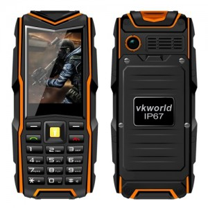 VKWorld Stone V3 2.4 Inch Waterproof / Dropproof / Dustproof Mobile Phone, 64MB RAM + 64MB ROM GSM Network (Orange)