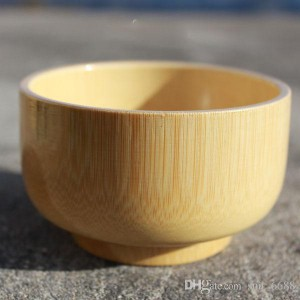 Children's tableware baby bamboo bowl natural qualities of wood without paint small wooden soup Korean offer (Open Box)