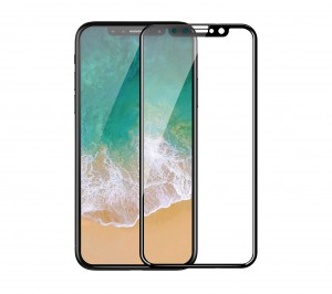 Devia 3D Curved Tempered Glass Seamless Full Screen Protector for iPhone X - DEVIA-3DIPX-BK (Black)