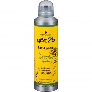 Schwarzkopf- got 2b Fat-Tastic Thickening Plumping Mousse Instant collagen infusion (245ml)