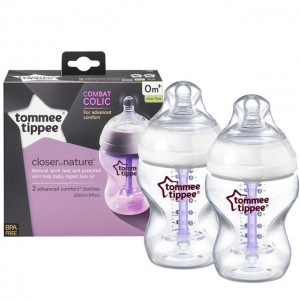 Tommee Tippee Closer to Nature 2x150ml Advanced Comfort Baby Feeding Bottle Anti-Colic #TT422602