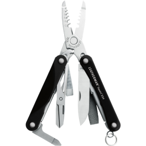 Leatherma Squirt ES4 Black Keychain Multi Tool with Wire Stripper