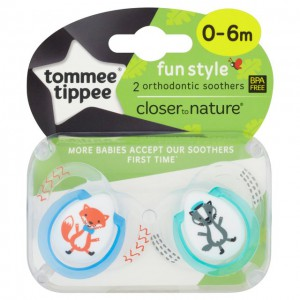 Tommee Tippee CTN 2X0-6M Baby Fun Soother PL AE #TT43335764