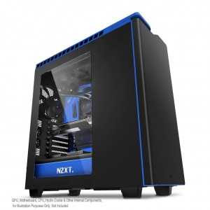 NZXT H440 Black/Blue Windowed PC Gaming Case - New Edition CA-H442W-M4
