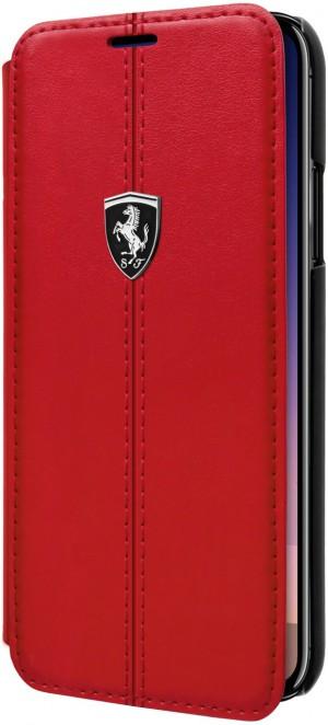 Ferrari Heritage - 488 Genuine Leather Book Type Case - Red(FEH488FLBKPXRE)