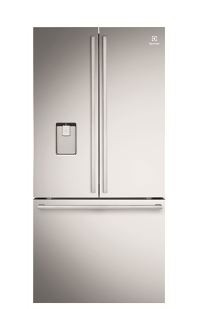 ELUX 524 L FROST FREE BLF BUILT-IN ICE MAKER THREE DOOR REFRIGERATOR SILVER FINISH - freezer and refrigerator
