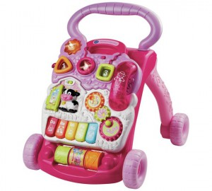 VTech Baby First Steps Baby Walker Pink - 61773