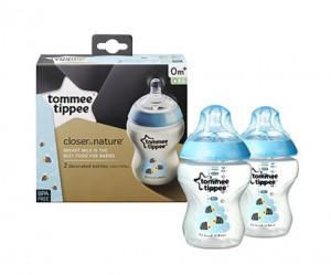 Tommee Tippee CTN 2x260ml Easi-Vent™ Decorative Feeding Bottle BPA free #TT422521