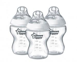 Tommee Tippee CTN 3x150ml Easi-Vent™ Feeding Bottle BPA free #TT422430