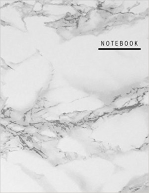 Notebook: LILA Unruled (Blank) Notebook - Large (8.5 by 11) - Marble