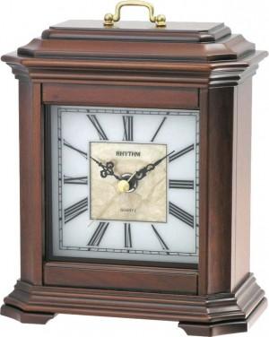 Rhythm Wooden Table Clocks Sea Shell Dial - CRG114NR06