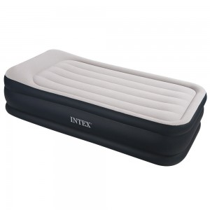 Intex Deluxe Pillow Rest Raised Air Bed Single
