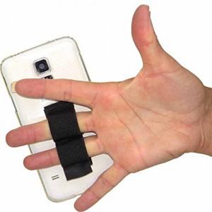 Lazy Hands 2-Loop Phone Grip - XL - Black
